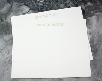 Personalized letterpress stationary