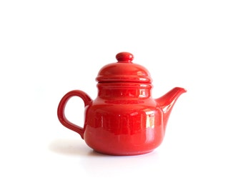 Vintage Waechtersbach Red Teapot, West Germany