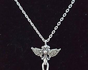 Vintage Style Angel Wing Cross