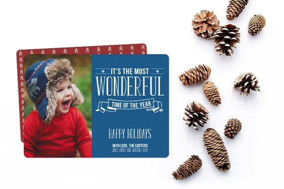 Holiday Photo Card - Personalized to match your family photo - Free customization