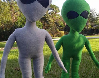 NEW! Green Space Alien Stuffed Plush Toy ExtraTerrestrial