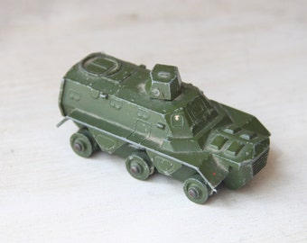 Dinktoys Armored Personnel Carrier -Made in England, Military, Army Green, Meccano LTD, No 676, Diecast Model, 1:43 Scale  (WTH-1171)