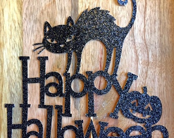 Halloween Cake Topper, Halloween decorations, Halloween Party, Happy Halloween Cake Topper, Halloween Decor, Halloween Cake