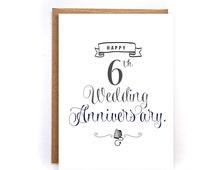 6th Wedding Anniversary Gift For Husband : ... greeting cards for husband, iron anniversary gift for him GC51