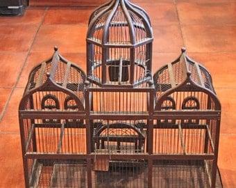 Bird Cage.  Antique Large Bird Cage. Collectible Bird Cage.