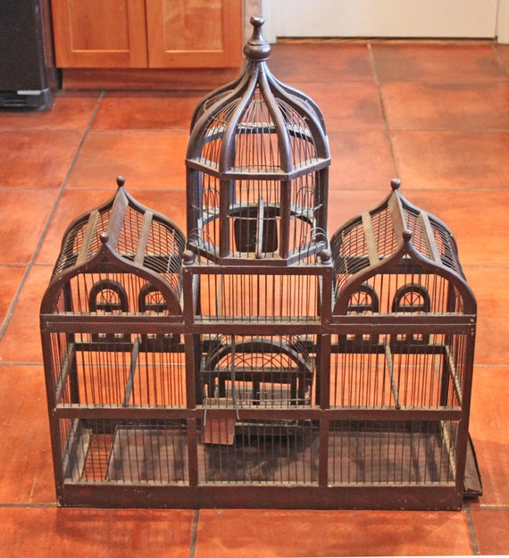 bird cage antique large bird cage collectible bird cage. Black Bedroom Furniture Sets. Home Design Ideas