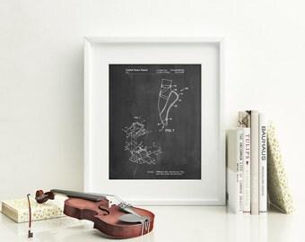 Ballet Shoe Patent Poster, Ballet Slippers, Dance Studio, Ballerina Gift, PP0268