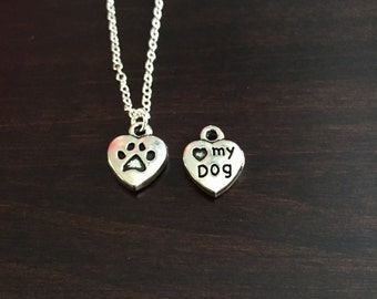 Dog, Dog Necklace, Dog Jewelry, Dog Pendant, Dogs, I Love My Dog, Silver Dog Necklace, Puppy, Puppy Necklace, Silver Necklace, Necklace