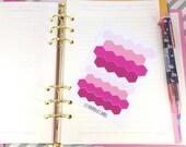 Mini pink hexagon vinyl planner stickers; Filofaxing; Erin Condren; Cute Stickers; Inkwell Press; Kawaii Stickers; Colour Coding