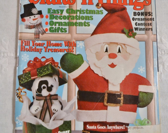 Crafts n Things Magazine November 1996 Holiday Craft Gift Projects Charts Patterns Vintage Instructions DIY Panchosporch