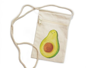 Mini Avocado Zipper Purse