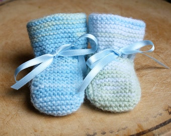 Knitted Baby Booties - Newborn