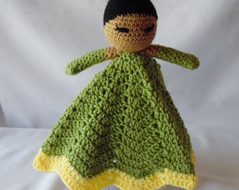 Princess Tiana Inspired Lovey/Security Blanket