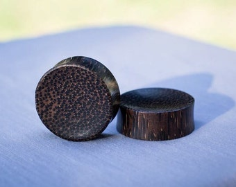 """SALE! BIG Concave Palm Wood Plugs 9/16"""" 5/8"""" 3/4"""" 7/8"""" One Inch (26mm) 1 & 1/8"""" (28mm)"""
