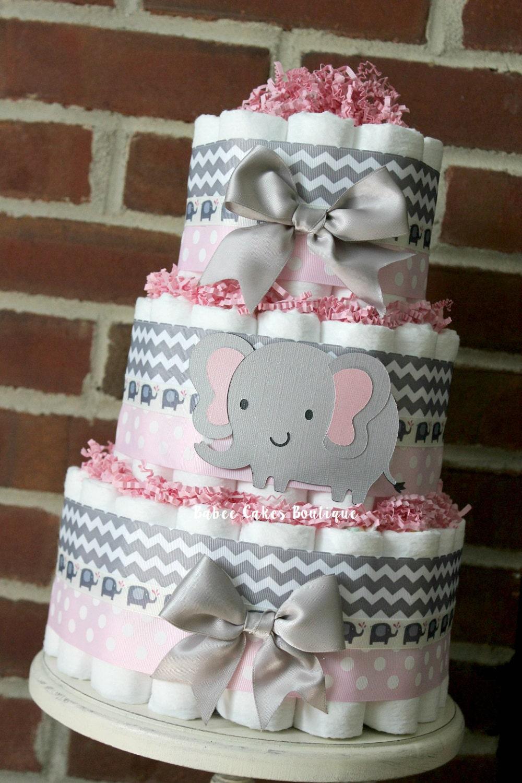 Baby Shower Elephant Diaper Cake