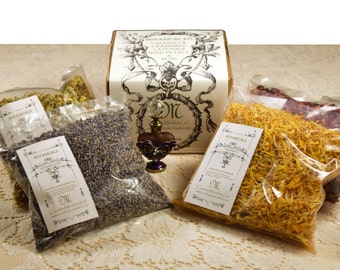 LARGE Botanical Flower Kit: 2 Cups Each of Lavender, Rose, Calendula, and Chamomile!