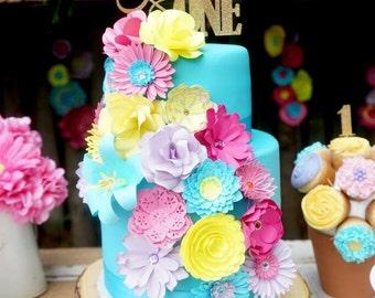 20 Mini Paper Flowers for Cake Decor - Cake Decorations, Cake Flowers, Cake Topper, Paper Flowers, Paper Flower Art
