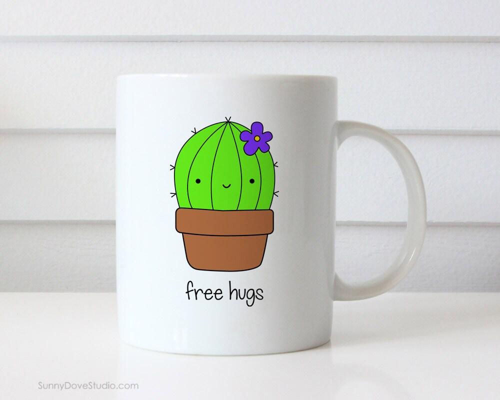 Funny Coffee Mug For Friend Free Hugs Encouragement Just