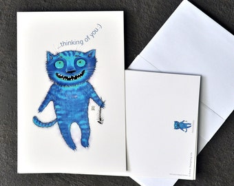 THINKING OF YOU - Funny Valentine Card - Valentine's Day Card - Card with Cat - Greeting Card -  Gift - Gift for Valentine's Day