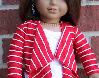 18 inch doll clothes, AG doll clothes, 18 inch doll cascading cardigan