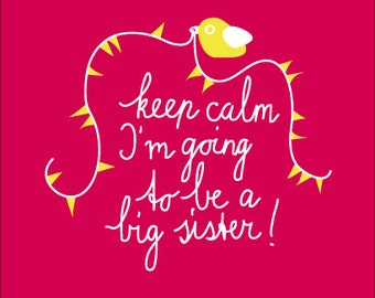 I'm going to be a big sister! Girls t-shirt with text