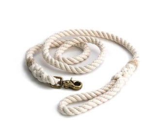 6 FT Natural White Rope Dog Leash