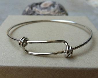 Silver Plated Adjustable Bangle Bracelet, Silver Plated Charm Bracelet, Silver Bangle, Bangle, Charm Bracelet, Bangles, Bangle Bracelet