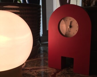 Red A Michael Graves Clock with Alarm - Architectural Design 90s PoMo