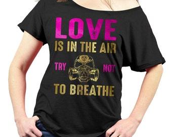 anti valentines day shirt anti love triblend ladies slouchy shirt off the - Valentines Day Shirts Ladies