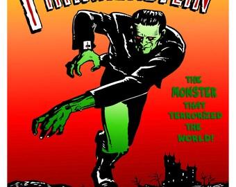 """Frankenstein, Monster, Horror Movie, Mary Wollstonecraft Shelley, POSTER 18"""" x 24"""""""