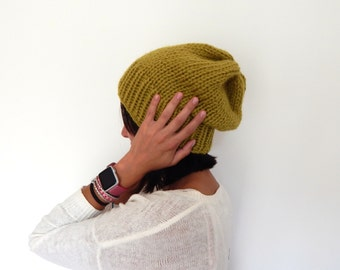 Ready to Ship Chunky Knit Hat - Chunky Slouchy Hat - Wool Knit Hat // THE TILDA // Chunky Wool Knit Cap