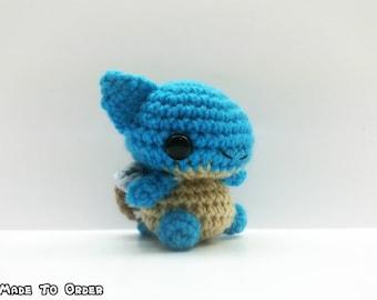 Crochet Blastoise CHIBI MINI Inspired Chibi Pokemon