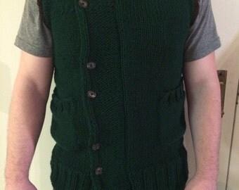 SALE! Zelda vest, The Witcher Vest, Men's knitted vest, Sweater vest, Wolf Hauberk, Cosplay, link costume