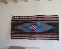 Morrocan Berber wool Artisan rug blanket diamond design