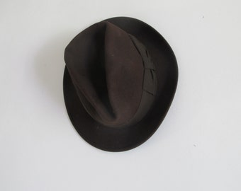 Vintage French SOOLS Paris • Brown Stetson Felt Hat •