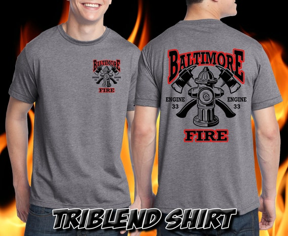 Custom Firefighter Shirt - Your department and station / engine / ladder # on this shirt!