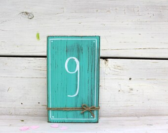 SET OF 20-30-40 Wedding Table Numbers, Distressed Wedding Decor Table Numbers, Wooden Numbers, Choose Color