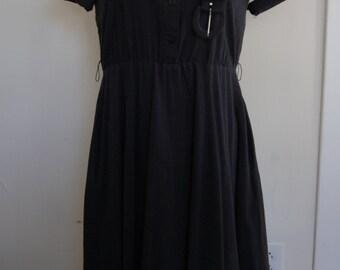 80's Black Western Dress