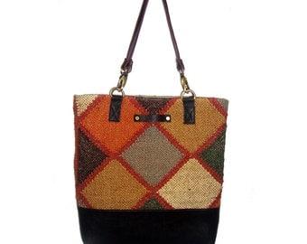 KILIM LEATHER BAGS,retro bag, merry Christmas bag,rug handbag,shoulder bags,shopping bags,kilim bags,designer handbags