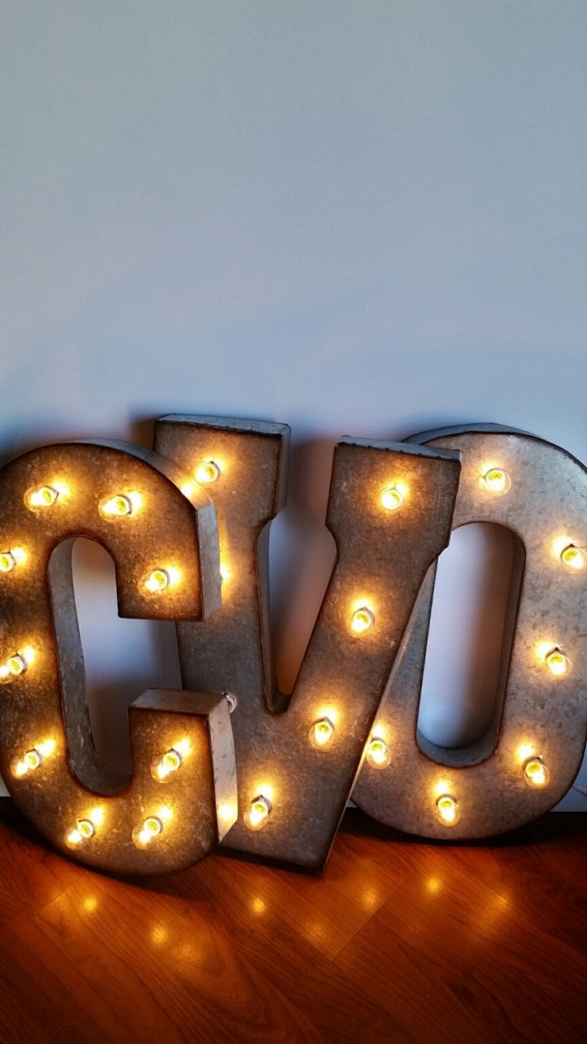letters with lights light up letters 21 metal marquee lights 23435 | il fullxfull.875013503 nsul