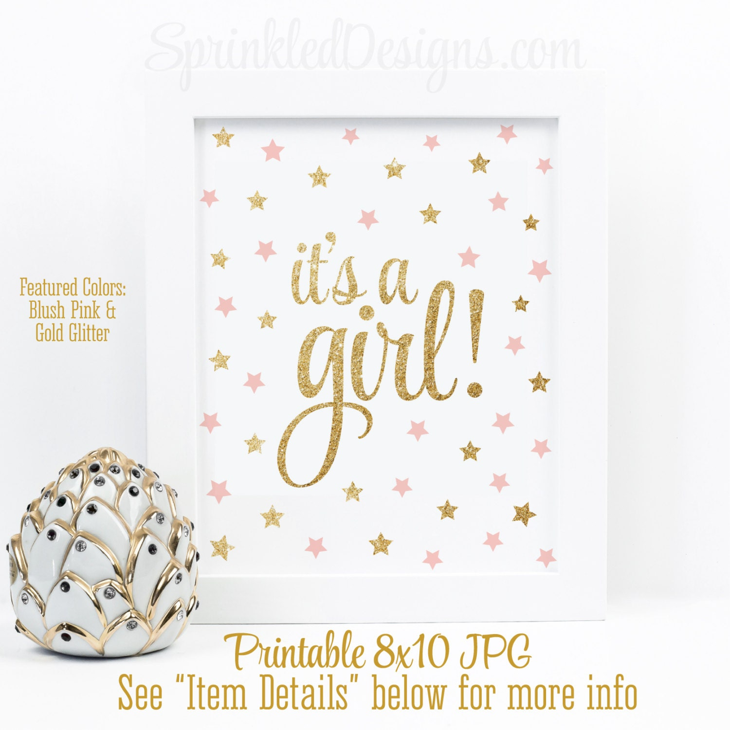 It S A Girl Sign Twinkle Twinkle Little Star Baby Shower