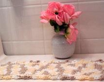 Toilet Tank Topper OR Sink Mat, Cotton Crochet Vanity Doily, Bathroom Decor, Fingertip Towel, Commode Topper, Queen Annes Lace Victorian