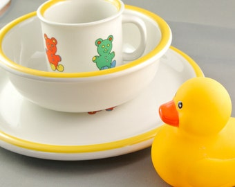 Tognana Children's Set - Made in Italy, Bowl, Plate and Cup