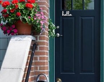 Vinyl Door Decal Etsy - Custom vinyl decals for home