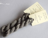 Hand dyed cotton thread / floss (6 strands) greyish azure (155) for cross stitch / embroidery