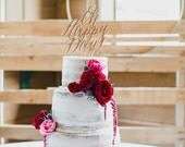 Oh Happy Day cake topper - wedding and party decor