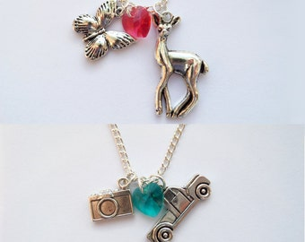 Chloe and Max. Life is Strange Necklace