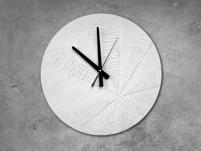 Large Wall Clock White Clock Modern Wall Clock White Wall