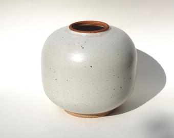 Chunky white ceramic vase