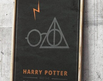 Harry Potter and The Deathly Hallows Movie Poster Print